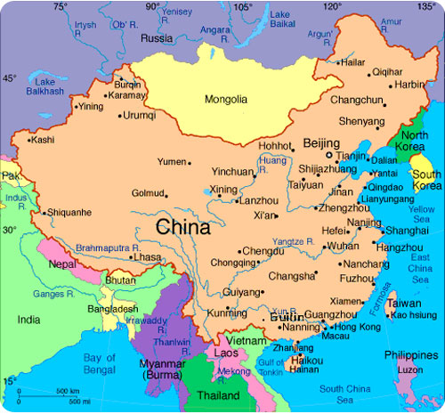 Map Of China Cities In English.China Map With Cities In English