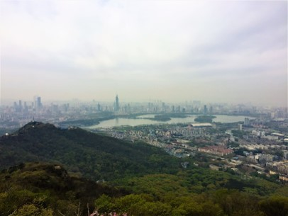 View from purple mountain in Nanjing