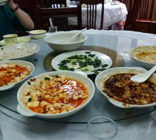 a typical chinese meal