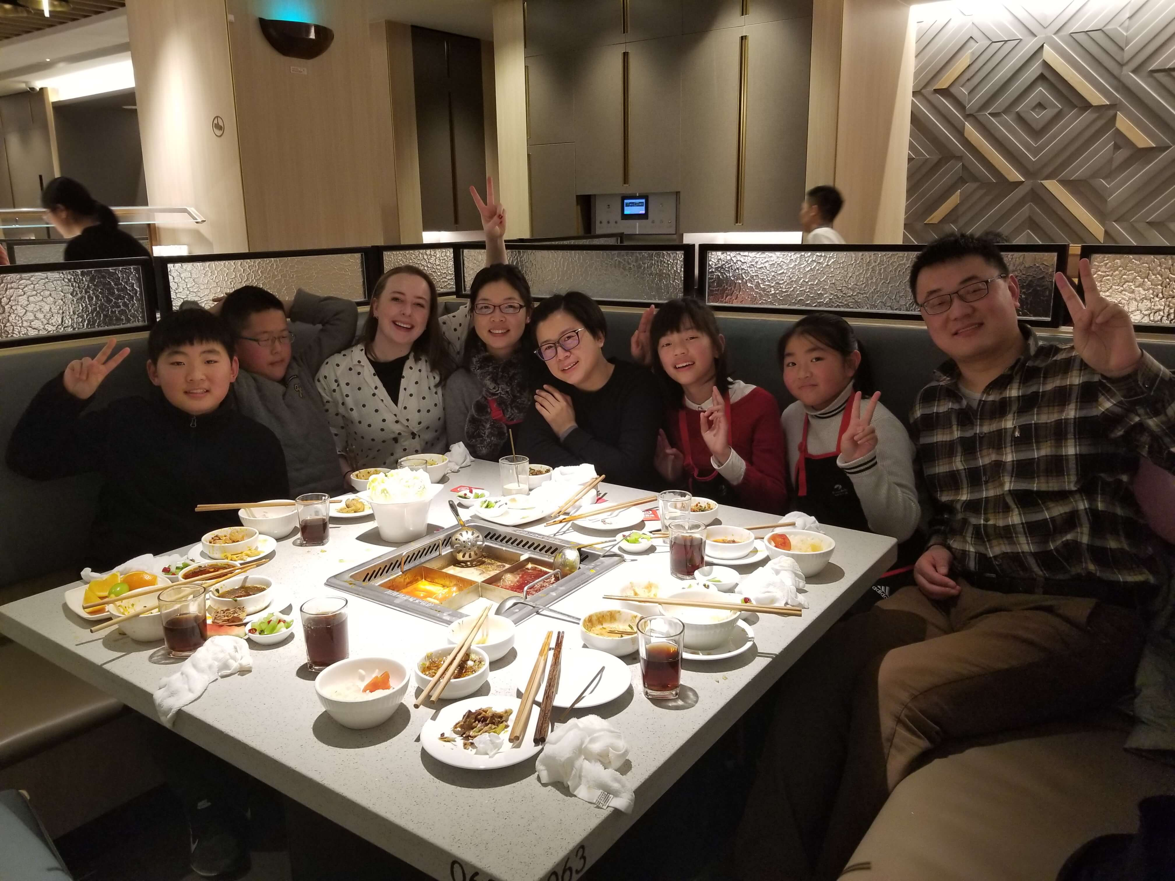 eating dinner with chinese friends